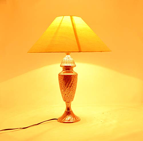 Handmade Global Authentic Brass Meenakari Decorative Table Lamp 13 - Brass Mortar
