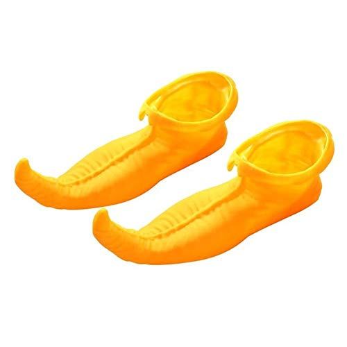 Adults Elf Shoe Covers,Adult Elf Shoes Clown Shoes Jester Shoes Carnival Costume Shoes,Elf Performance Shoes Latex Glove Clown Shoes Halloween Performance Prom Elf COS Prop ()