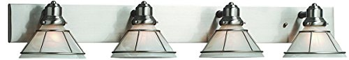 Craftsman Vanity Light in Satin Nickel