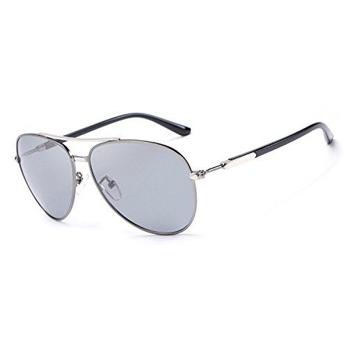 conducción Retro Sombras Prueba Sol luz Polaroid Gafas a Hombres de de de para de JCH Gray UV400 Lentes Sol Marco Gafas Metal 4TBw5qRx