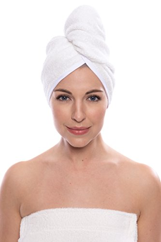 Texere Women's Bamboo Viscose Hair Towel (Tya, Natural White, U) Birthday Gift