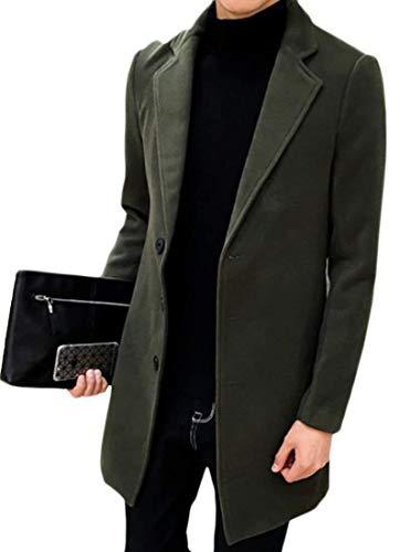 Kangqi En À Mélangée De Laine Pois Pour Manteau Ajustée Coupe Kaki Hommes Vêtements rq8rF