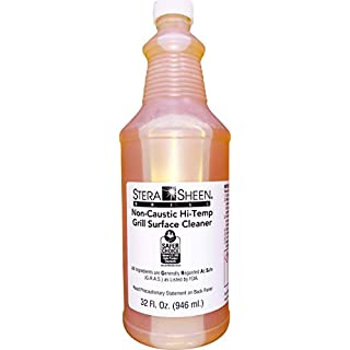 Stera-Sheen Griddle & Flat Grill Surface Cleaner, 1 x 32 fl oz Bottle, Food-Safe, Non-Caustic, Powerful Griddle Surface Cleaner, Clean Hot Surfaces, Eliminate Tough Encrusted Grease, (1 x 946ml)
