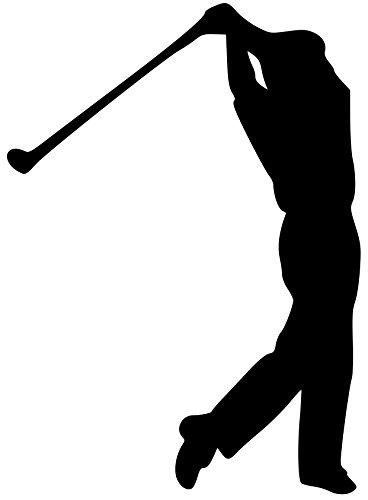 Golfer Sticker (Golfer Man Boy Vinyl Decal Sticker 5.5