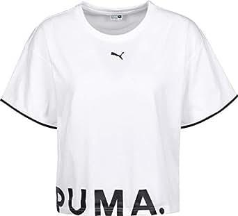 Puma Chase Cotton T-Shirt For Women, L Puma White