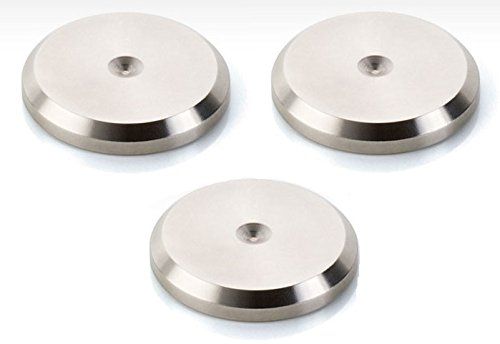 (Clearaudio Stainless-Steel Spike-Plates - AC049 (Set of 3))