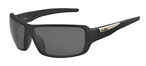 (Bolle Cary Matte Black TNS 12220 Sunglasses Polarized Lens Medium Thermogrip)