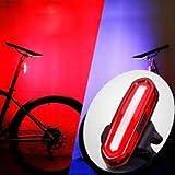 LANTERNA TRASEIRA PISCA USB SINALIZADOR 6 MODOS LUZ BIKE vermelha recarregável grande autonomia