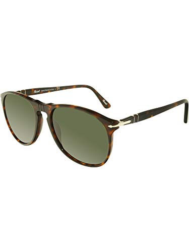 Persol Men's Caffe Classic Sunglasses, Caffe/Green Polar, One Size (Sunglasses Persol)