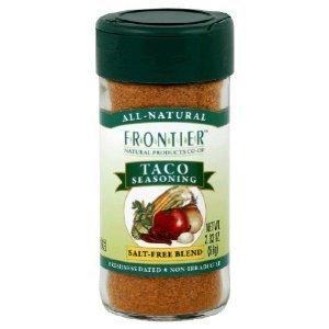 Frontier Taco Salt-Free Seasoning -- 2.25 oz ( Multi-Pack) (2.25 Ounce Units)
