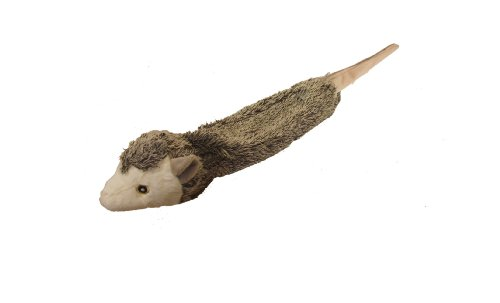 (Multipet Bouncy Burrow Buddies Unstuffed Plush Possum Dog Toy with Rubber Ball in The Head and a Tail That Squeaks, 20-Inch)
