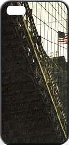 Brooklyn Brigde Travel US NewYork Apple iPhone 5/5s SLIM Case Carcasa [SF Matte Black (negro)] SUPER SLIM + SF COATED + PERFECT FIT Caso duro Premium Funda Cáscara Caso Cubrir