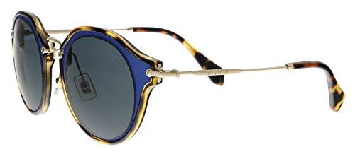 Miu Miu 51SS VA71A1 Matte Azure Round Sunglasses Size ()