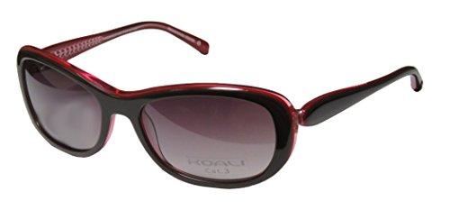Koali 7250k Womens/Ladies Designer Full-rim Sunglasses/Shades (57-18-135, Brown / Red)