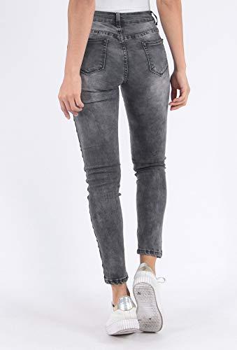 Stretch D2511 Donne Skinny Simply Pantaloni Banda Chic Nero Jeans X1wwqAv