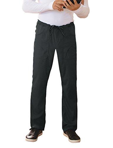 KOI Lite Men's Endurance Straight Leg Drawstring Scrub Pant Small Tall Black (Tall Mens Koi Scrub)