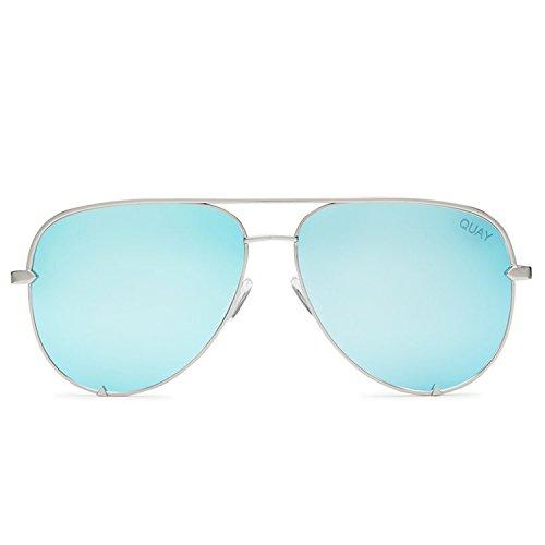 Quay Australia HIGH KEY Women's Sunglasses Classic Oversized Aviator - - Sunglasses Mens Quay