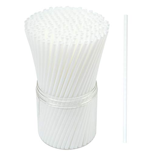 Resinta 350 Pieces Compostable Plant-Based Drinking Straws Eco-Friendly Corn-Starch Biodegradable - Straws Friendly Eco
