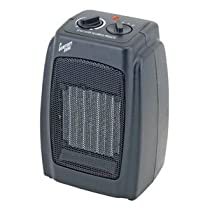 Comfort Zone Compact Ceramic Heater, Black