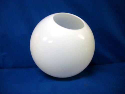 10 inch White Acrylic Plastic Light Round Pole Post Globe Lamp fixture Coffeesoft
