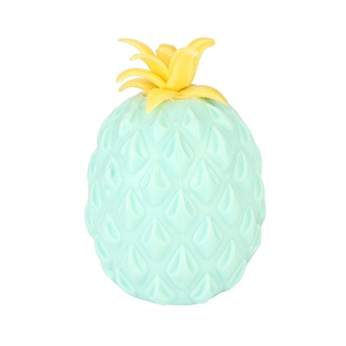 Livoty Novelty Simulation Pineapple Squeeze Toy Office Pressure Stress Reliever Toys (Blue)