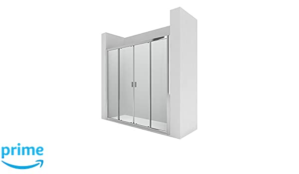 Roca AM13719012 - Mampara de ducha con dos puertas correderas y ...