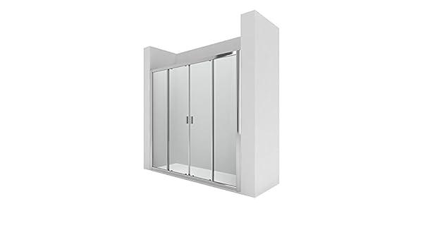 Roca AM13720012 - Mampara de ducha con dos puertas correderas y ...