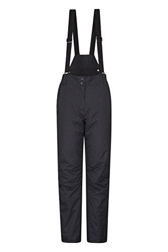 Mountain Warehouse Moon Womens Ski Pants - Warm Bib Snow Trousers Black 20