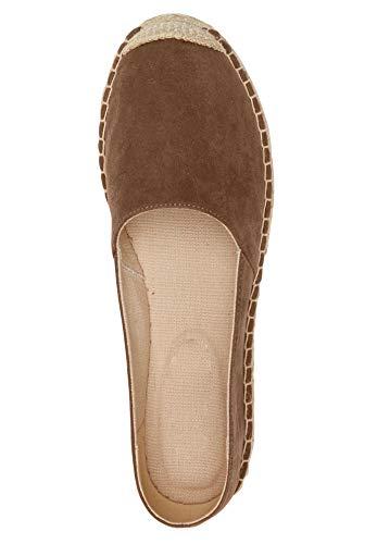 Ellos Women's Plus Size Espadrille Flats - Pecan Brown, 7 M