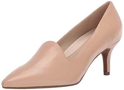 Aerosoles - Women's Macrame Heel - Pointed Toe Style Pump with Memory Foam Footbed (6M - Lt Tan Leather)