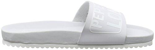 Pepe Jeans London Damen Bio Royal Block L Pantoletten Weiß (White)