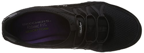 Sport Skechers Breathe Black Moneybags Easy Sneaker Women's Relaxation r7wqdrz
