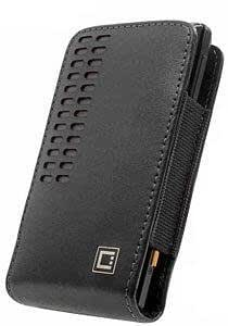 Viesrod Samsung Admire Vertical Style Slide In Genuine Black Leather Case Stitched In Black With Removable Spring Clip...