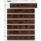 Archival 35mm Size Negative Pages Holds Seven Strips of Five Frames - 100 Pack