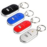 Cpixen Led Key Finder Locator Find Lost Keys Chain Key Chain Whistle Sound Control