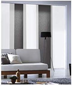 Noir MADECOSTORE Panneau Japonais Tamisant Lamelles Uni L45 x H260cm