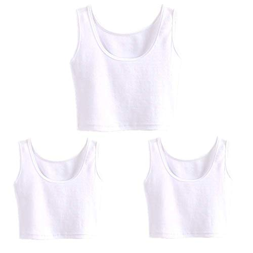HZH Women's Short Yoga Dance Athletic Tank Tops Shirts Pack of 3