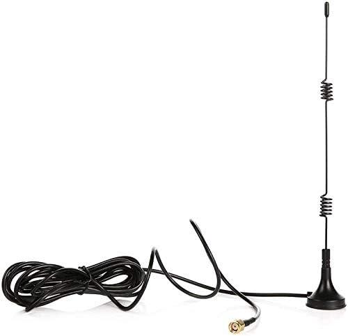 Tonton Cable de extensión de antena wifi de 3 m, 7 dBi, con base magnética para cámara wifi de seguridad inalámbrica IP.