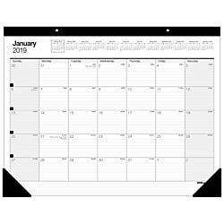 Office Depot Brand Large Monthly Desk Pad Calendar, 22