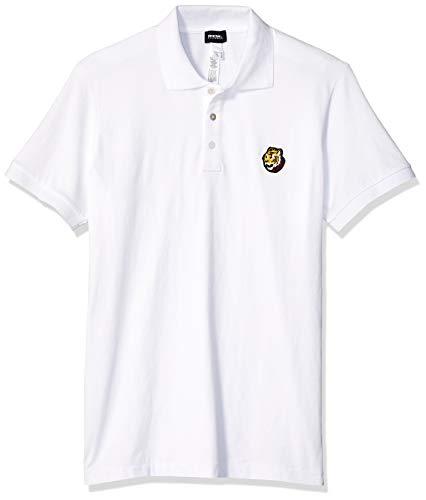 Diesel Men's BMOWT Polo Shirt, White, L