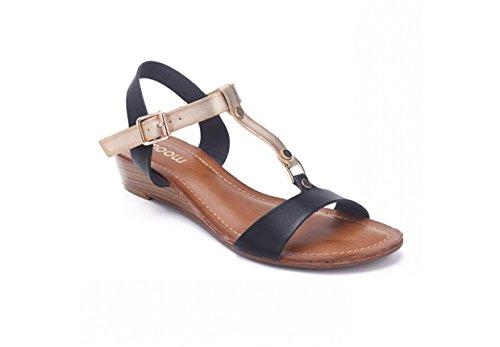 Moow - Sandalias de vestir para mujer negro