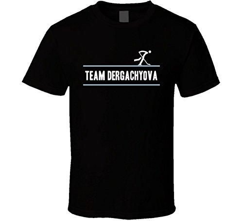 Tshirtshark yelena Dergachyova Olympic Athletes From Russia Team Winter Olympic Athlete Ice Hockey Fan T Shirt 2XL Black