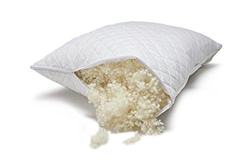 Paragon Woolen Dreams Hypoallergenic Wool Fill Pillow - Standard - Adjustable Loft - Healthier Sleep - Made in the U.S.A. by Veterans - Earth (Organic Cotton Fiberfill)