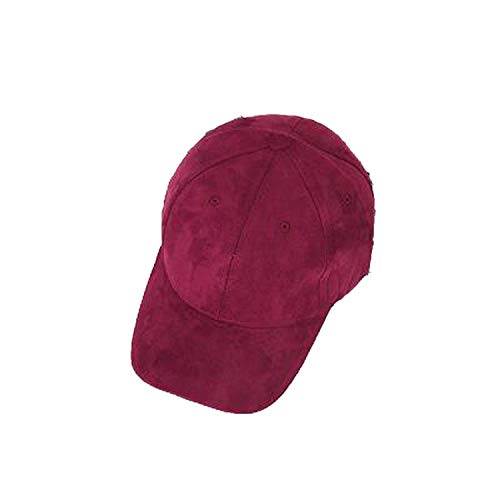 Suede Snapback Baseball Cap New Gorras WearzoneTrucker Cap WinterAutum Hiphop Flat Hat Bone Cap,Red Wine