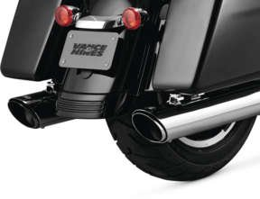 - Vance and Hines 16672 Twin Slash Round 4in. Chrome Slip-On Exhaust for Harley Davidso -Touring-2017 and 2018 Models ONLY