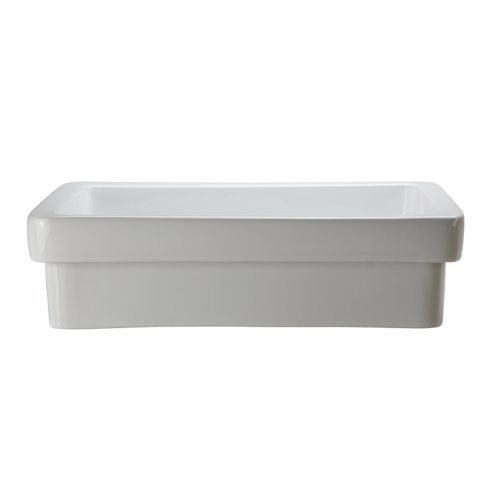 Decolav Counter Lavatory Sink - DECOLAV 1453-CWH Ambre Classically Redefined Semi-Recessed Lavatory Sink, White