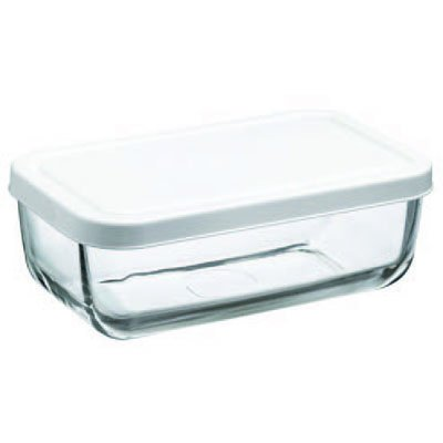 Pasabahce Snow Box Glass Food Container, 420ml, Clear