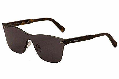Ermenegildo Zegna - EZ0025, Other, acetate, men, DARK HAVANA/GREY(20A - Sunglasses Zegna