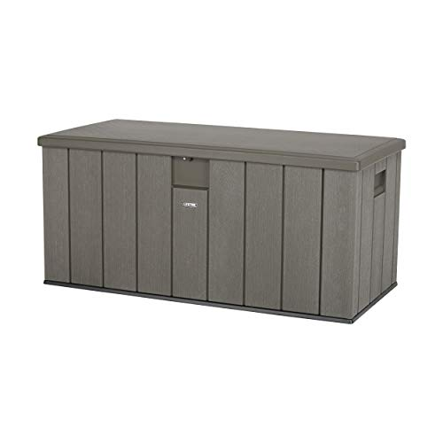 Lifetime 60215 Heavy-Duty Outdoor Storage Deck Box, 150 Gallon