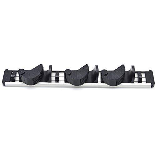 Eshop99 Wall Mounted Broom and Mop Holder, Garage Storage System, Broom Organizer- 2 Position 3 Hooks & 3 Position 4 Hooks (3 Positions)